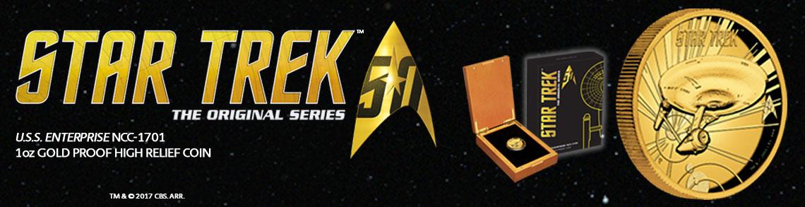 Star Trek High Relief Gold