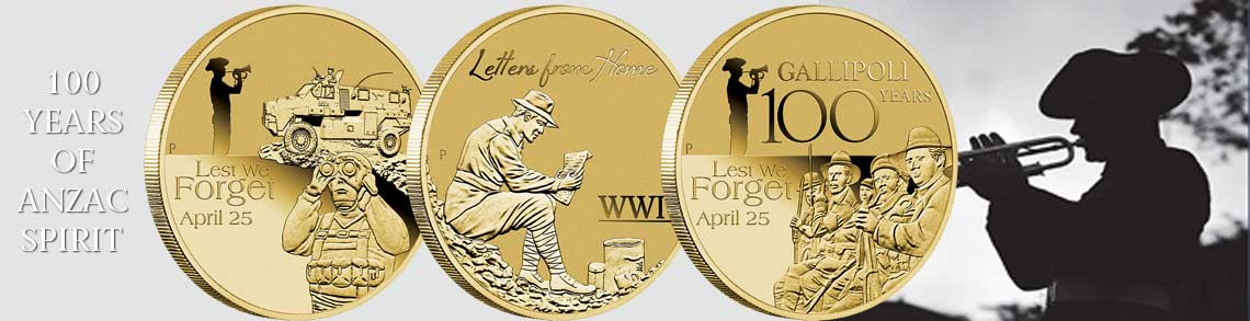 ANZAC Base Metal coins combined