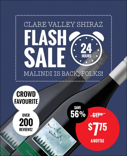 Malindi Clare Valley Shiraz Flash Sale