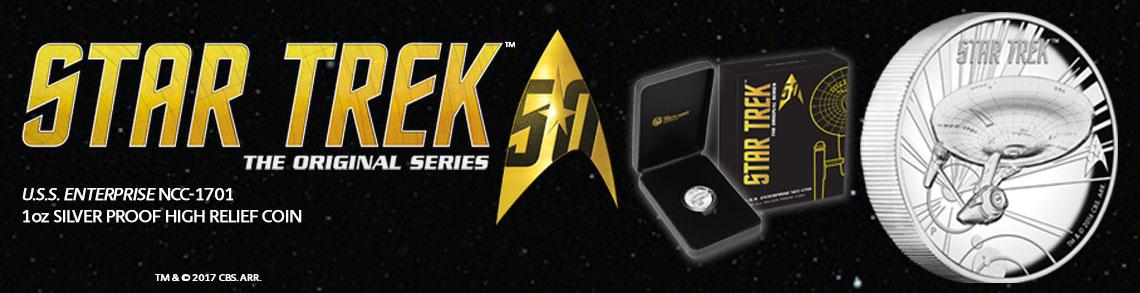 Star Trek High Relief Silver
