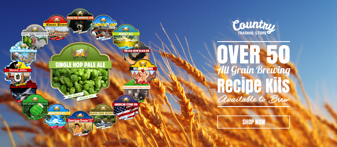 Country Trading Store - Over 50 All Grain Recipe Kits