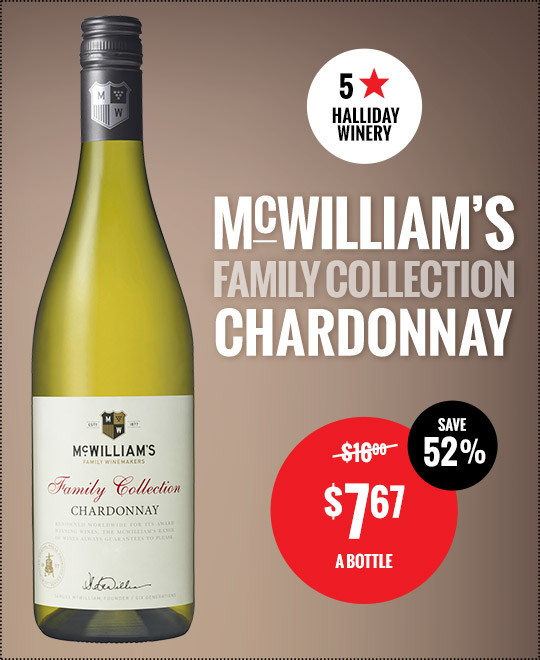 McWilliams Family Collection Chardonnay Price Drop