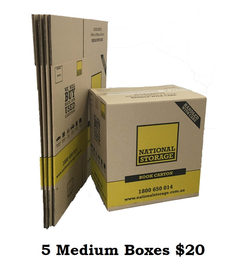 5 Medium Boxes