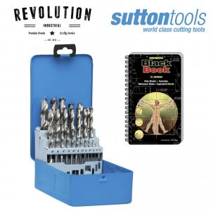 Sutton Tools Silver Bullet 25 Piece Twist Drill Set HSS Bonus Engineers Black Bo