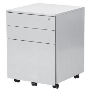 Steelco Steel Mobile Pedestal 3 Drawer 2 1 610H X 460W X 470Dmm Satin White