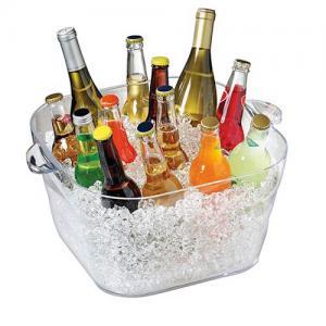 Serroni 16L Square Clear Polycarbonate Wine Bucket