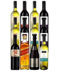 Mixed Wines With Johnnie Red And Sparkling 12 Bottles