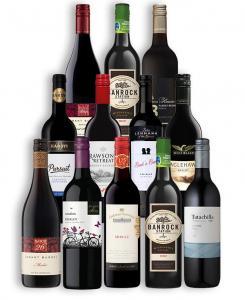 Top Brands Red Wine 12 Bottles