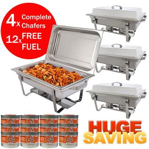 4 Pack of Chafing Dishes