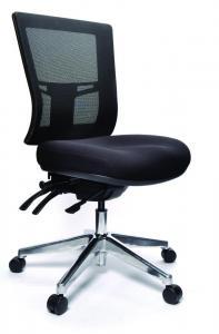 Buro Metro II Task Chair with Aluminium Base Black