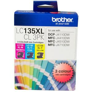 Brother Lc-135Xl Colour Value Pack High Yield 3Pk