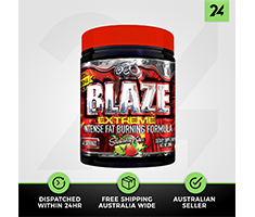 OCD Nutrition Blaze Extreme - Thermogenic Fat Burning Pre Workout - Free Gift