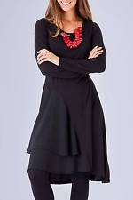 NEW Gordon Smith Rayon Jersey Dress Black