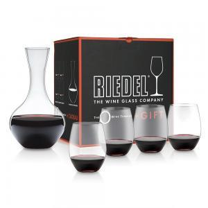 Riedel O Series Cabernet Merlot 4 Piece with Bonus Decanter