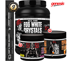 Rich Piana 5 Nutrition Egg White Crystals - All Day You May - 5150 Huge Stack