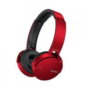 MDRXB650BTR EXTRA BASS Bluetooth Headphones Red