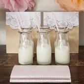 36 x NEW Mini 220ml Glass Soda & Milk Bottles Jar - Bulk Wholesale Lot Jars x 36