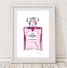NEW Watercolour Chanel perfume print Women by BespokeMoments
