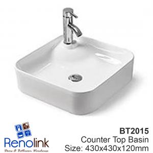 430X430X120mm Ceramic Counter Top Basin - FREE POSTAGE