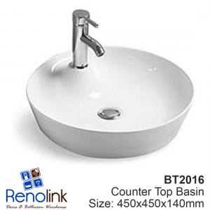 450X450X140mm Ceramic Counter Top Basin - FREE POSTAGE