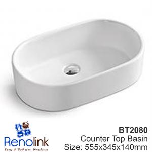 555X345X140mm Ceramic Counter Top Basin - FREE POSTAGE