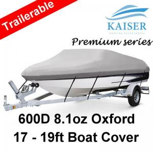 Premium Heavy Duty 600D 17-19ft 5 2-6m Marine Grade Trailerable Boat Cover G