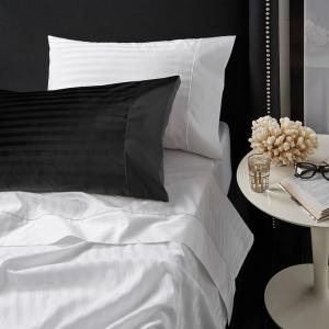 Davinci Striped Sateen Cotton Granite King Sheet Set