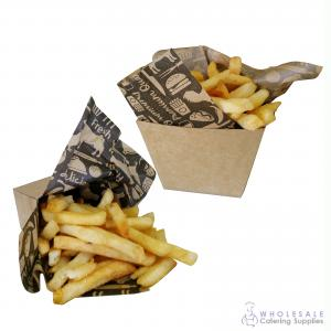 Pack of 50 Cardboard Chip Cup