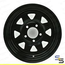 Brand New 161 16x7 8SPOKE 5STUD LANDCRUISER BLACK SUNRAYSIA STEEL WHEEL
