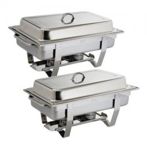 2x Chafer Chafing Dish Buffet Bain Marie 635x 317 5x 102mm Stackable NEW