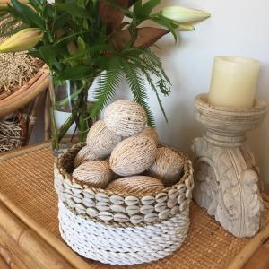 Shell Trimmed Seagrass Basket