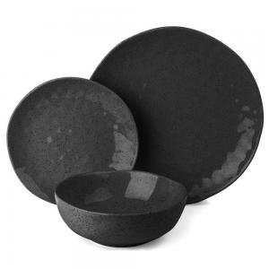 Ecology Speckle Ebony 12 piece Dinner Set