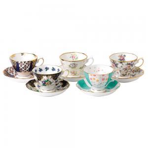 Royal Albert 100 Years 1900 1940 Teacup & Saucer 10 piece New