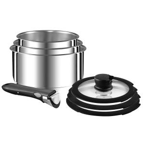 NEW Tefal Ingenio 11 Pcs Stackable Stainless Steel Cookware Set