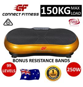 NEW Vibration Machine Platform Plate Trainer Whole Body Fitness Massager - Gold