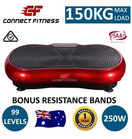 NEW Vibration Machine Platform Plate Trainer Whole Body Fitness Massager - Red