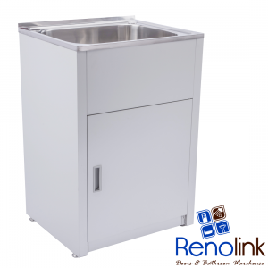 600x500x870mm 45L Stainless Steel Laundry Tub