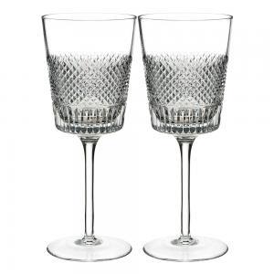 Waterford Diamond Line 2 piece Wine Set