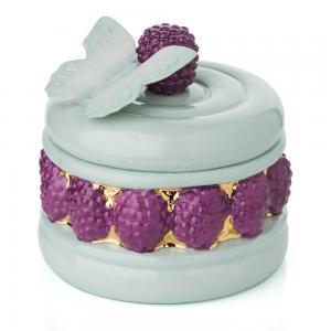 Villari Ispahan Pia Cake Scented Candle Fuchsia and Aquamarine