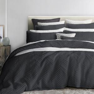 Private Collection Tux Charcoal Queen Quilt Cover Set