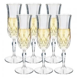 RCR Crystal Opera Champagne Flute Set 6 piece 130ml
