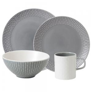Royal Doulton HemingwayDesign 16 piece Grey Dinner Set