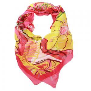 DLUX Miranda Silk Digi Print Pink Scarf