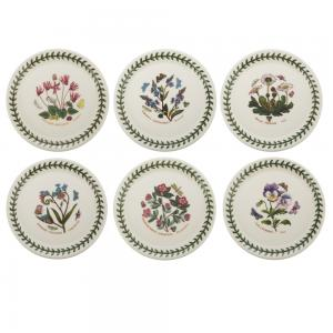 Portmeirion Botanic Garden Bread Plate Set 6 piece