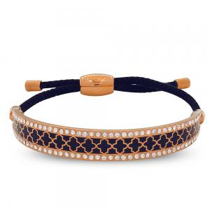 Halcyon Days Agama Sparkle Navy Rose Gold Friendship Bangle