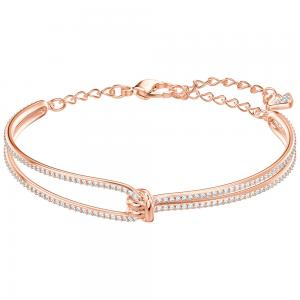 Swarovski White Lifelong Rose Gold Plated Bangle