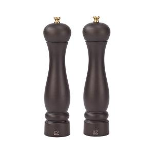 NEW Peugeot Clermont 24cm Salt & Pepper Mill Set Chocolate