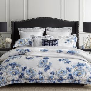 Wedgwood Home Floral Navy King Quilt Cover Set 4 piece