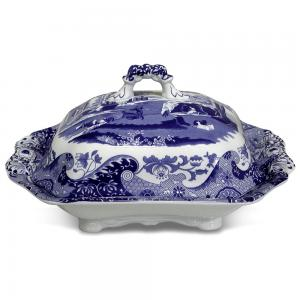 Spode Blue Italian Vegetable Dish with Lid