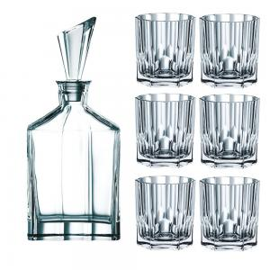 Nachtmann Aspen Whisky Decanter and 6 Tumbler Set